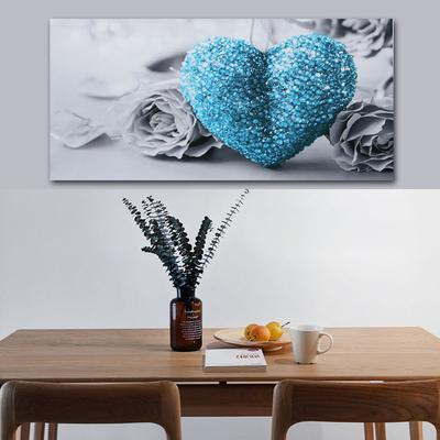 Rose Golden Heart 45x80cm Wall Art Painting Print Oil Pictures Decor