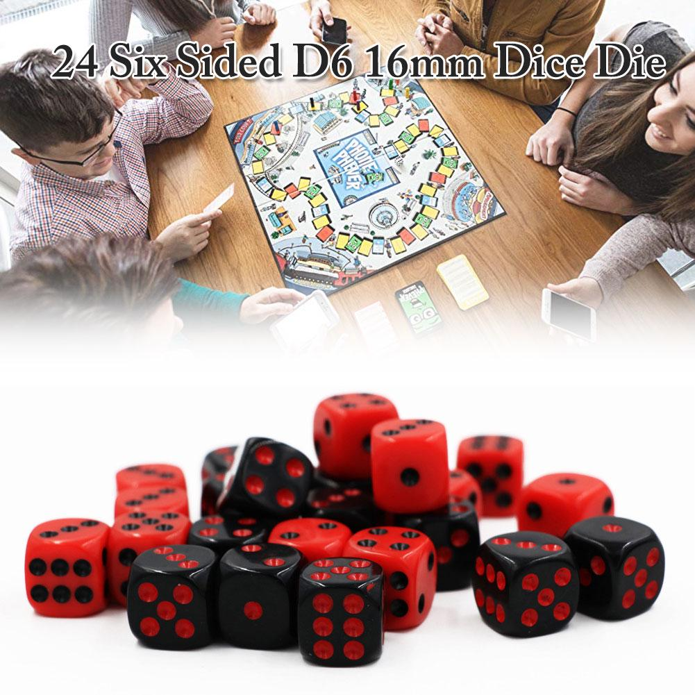 5pcs New Square 16mm Six Sided D6 Opaque Standard Game Dice 16mm Dark green