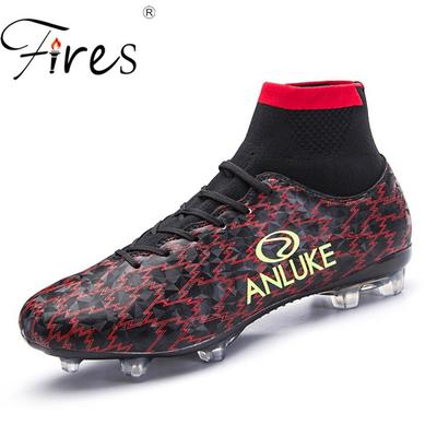 59e80dc5f23 Men Soccer Boots Outdoor Sports Long Spikes Soccer Shoes Mens Summer Football  Shoes Fashion Sneakers