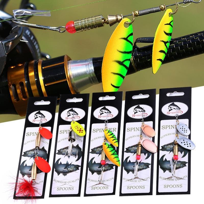 Pesca Esche Duro Metallo Spinner Esche Per Bass Trota Casa Design