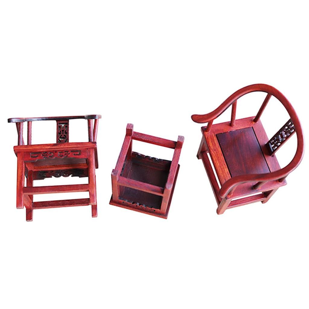 Backrest Wood Chair Handcrafted for Dolls Dollhouse Miniatures Scale 1:12 White