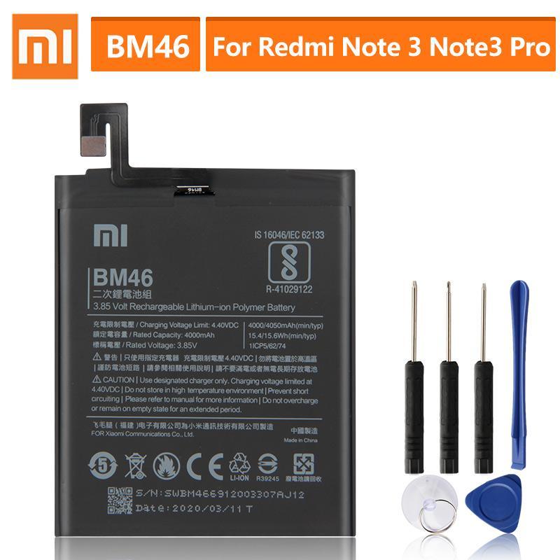 Xiao Mi Оригинальная телефонная батарея BM46 для Xiaomi Примечание 3 redmi Note3 Pro Note 3 BM46 Замена батареи 4050mAh – купить по низким ценам в интернет-магазине Joom