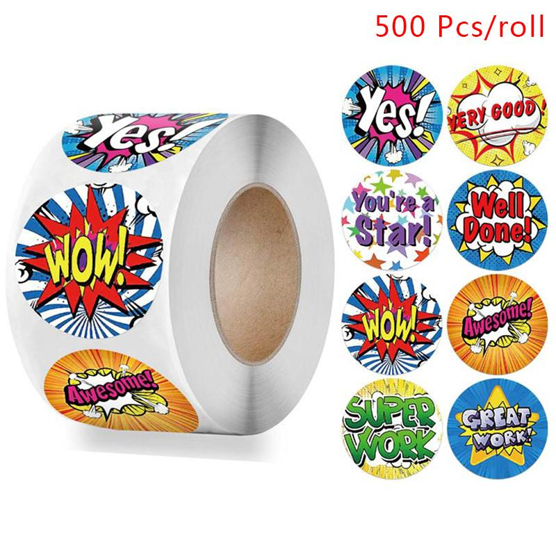 500 Pcs Reward Stickers Motivational Stickers Roll Kids Students Teachers Labels Buy At A Low Prices On Joom E Commerce Platform