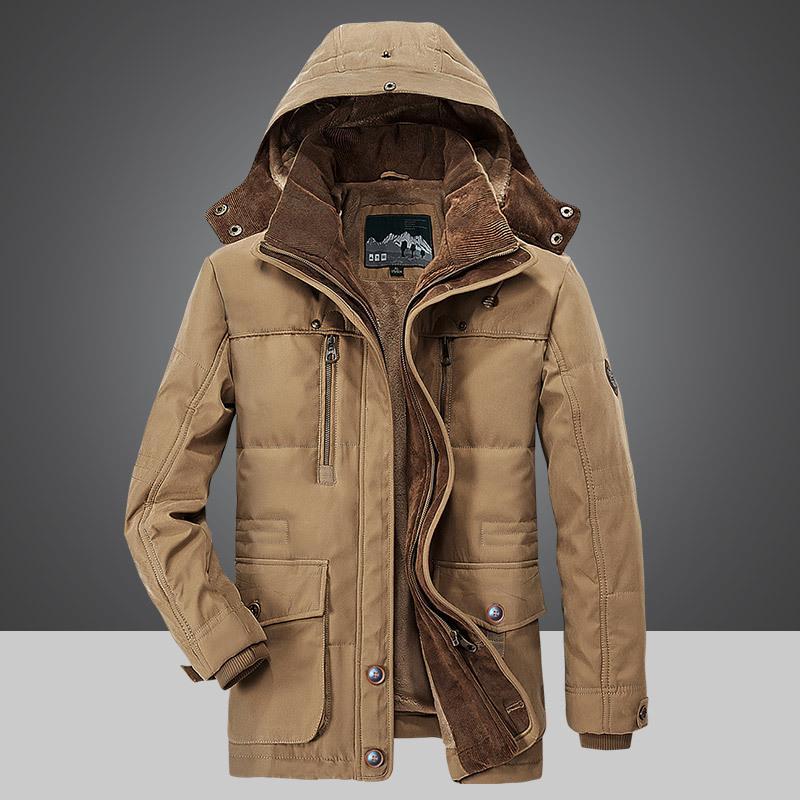 Hoodie пальто Мужчины Куртка Пальто Мужчины Теплый Теплый капюшоном-Хлопок Одежда Пальто Мужчины – купить по низким ценам в интернет-магазине Joom
