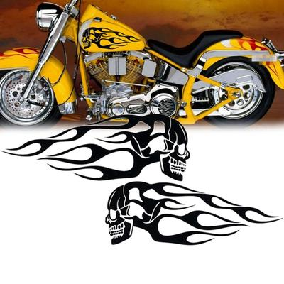 2pcs Chrome Look 3D Motorcycle Oil Fuel Gas Tank Decal Sticker for Honda VTX1300