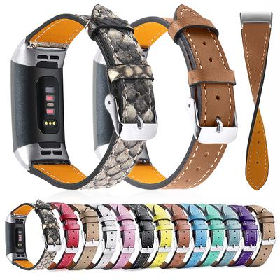 Genuine Leather Replace Bracelet Strap Band for Fitbit Charge 3 & 3SE/ 4 & 4SE