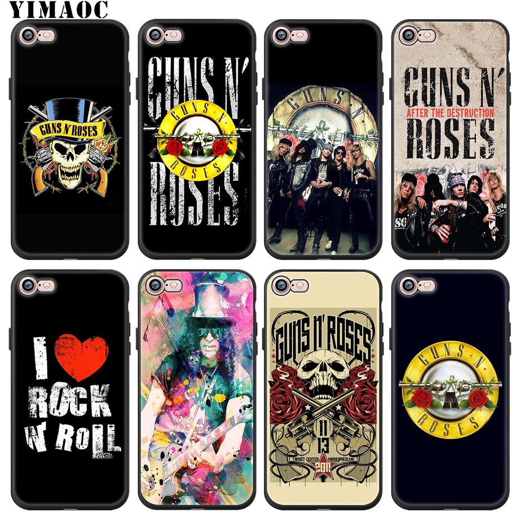 YIMAOC GUNS N'ROSES N' ROSES Axl Soft Silicone Phone Case for iPhone 11 Pro XS Max XR X 6 6S 7 8 Plus 5 5S SE 10 Black Cover