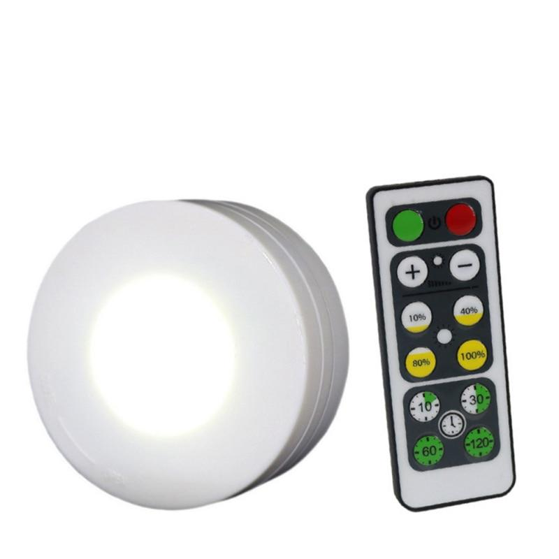 1//3//6pcs LED Under Cabinet LED Puck Lights Remote Wireless Dimmable Night Lamps