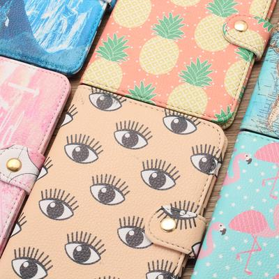TNK Chic Pineapple Travel Leather Passport Holder Card Case Protector Cover Wallet