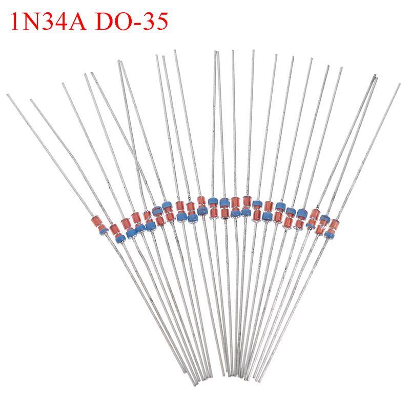 Diode Germanium 10x 1N34A DO-35