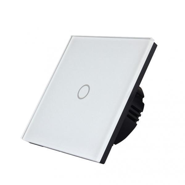 1 Gang Way LED Crystal Glass Панель Света ЕС Великобритании сенсорный экран переключатель белый – купить по низким ценам в интернет-магазине Joom