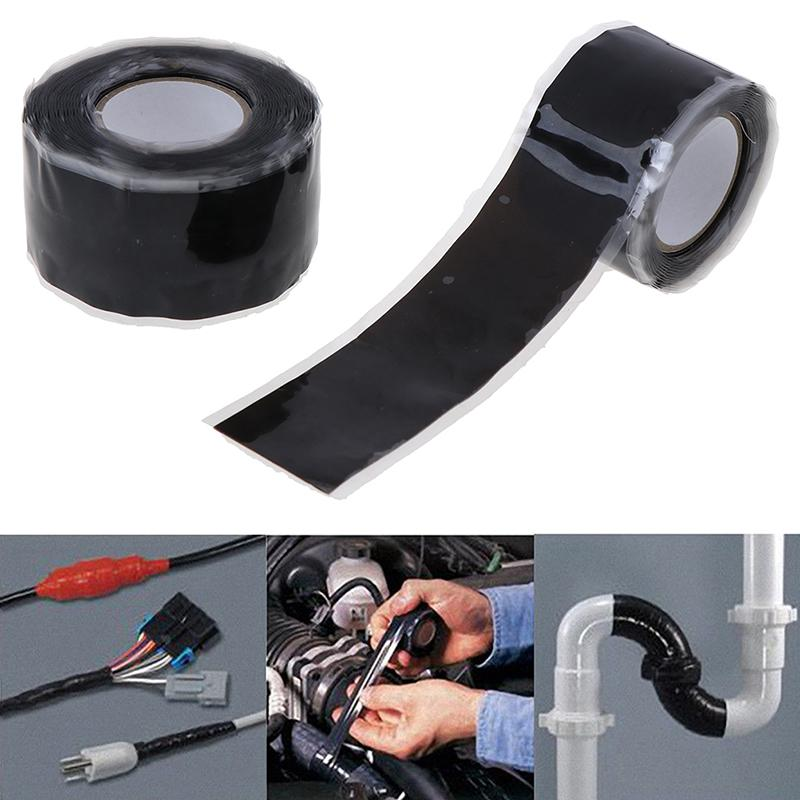 Self Fusing Silicone Performance Repair Tape Bonding Rescue Wire Hose Tape Black