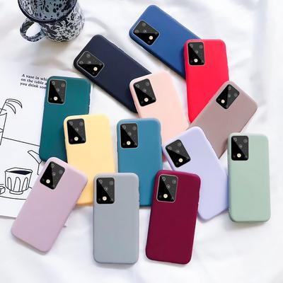 Candy Color Soft Silicon Case For Samsung Galaxy S21 Ultra S20 FE S20 Ultra Plus Note 20 A32 A72 A52 A42 A31 A21S A71 A51 A81 A91 Note 10 9 Plus S10