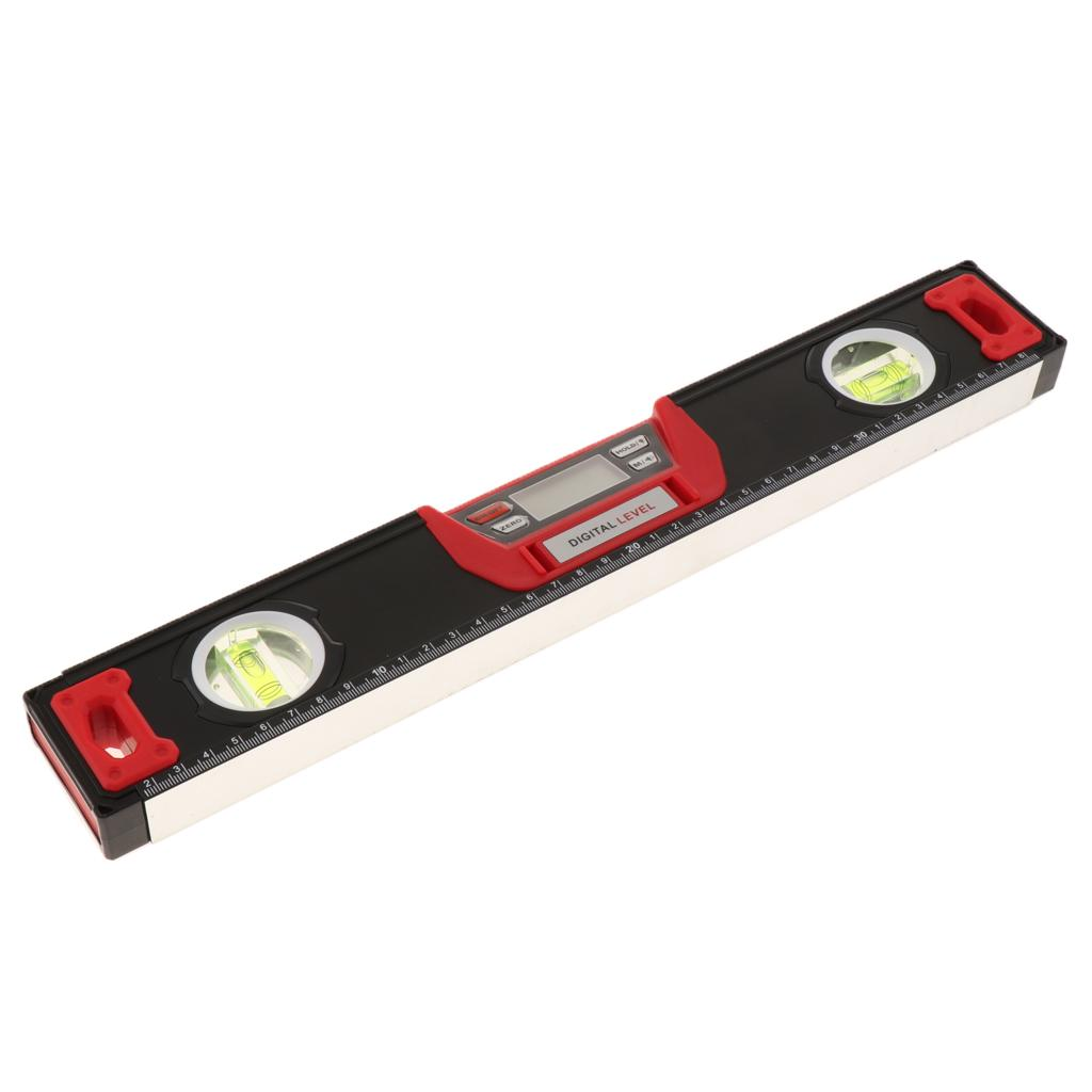 Level Ruler 600mm Aluminum Alloy Ruler Magnetic Digital Angle Finder Inclinometer Angle Ruler Level with Bubble Level