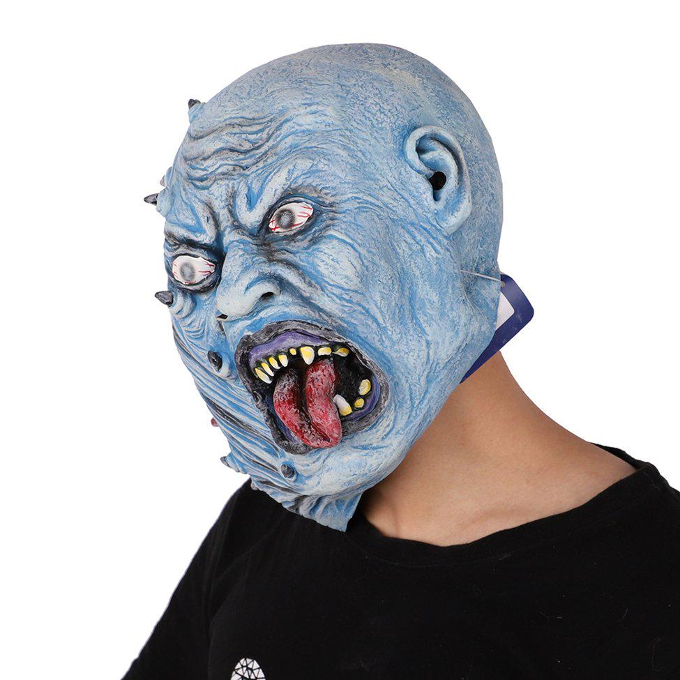 Smiffy/'s Decaying Blue Zombie Rubber Mask Smiffys Fancy Dress Adult