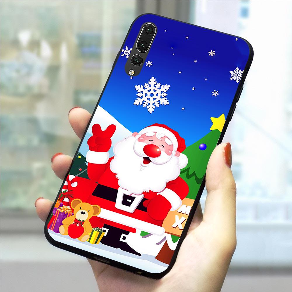 New Year Merry Christmas Phone Case For Huawei P20 Pro Cover P10 P20 P30 Pro Lite TPU Shell