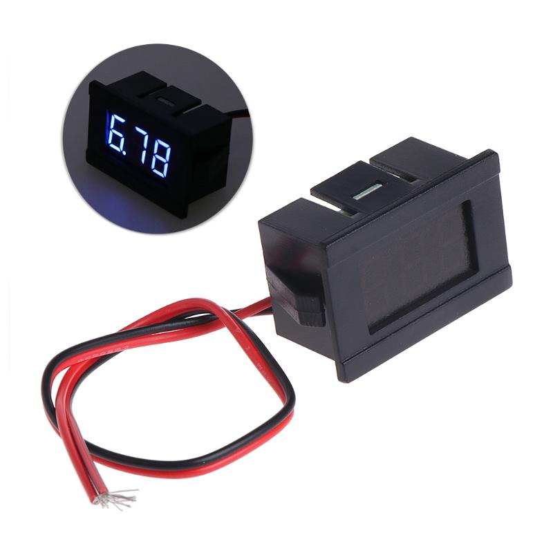 1X 0-99.9V Mini-Digitalvoltmeter blaue LED Fahrzeuge Motorspannung Panel Meter