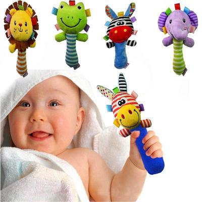 1Pc Funny Kids Children Ball Toys Plush Soft Rattles Ring Bell Gifts New DS