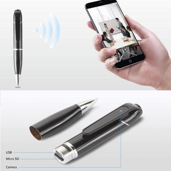 1280P WIFI Pen Spy Hidden Camera HD  Recorder DVR Meeting Recording USB Storage