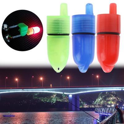 10pcs Night Clip Fishing Rod Tip LED Light Fish Bait Bite Alarm New
