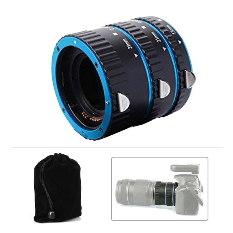 MeterMall New Metal Mount Lens Adapter Auto Focus AF ro Extension Tube Ring for Canon EOS EF-S Lens 750D 80D 7D T6s 60D 7D 550D 5D Mark IV Silver