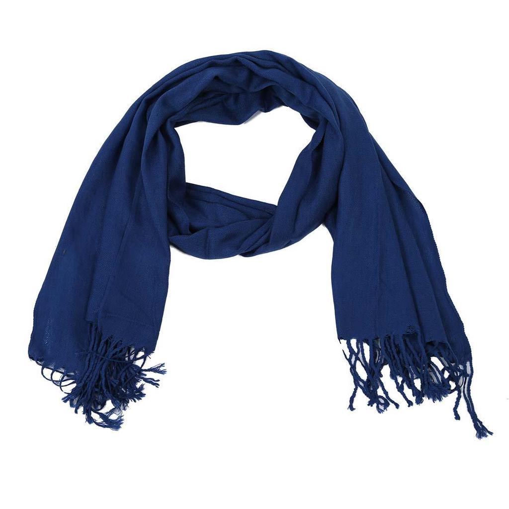 Nuevo abrigo bufanda bufandas chal largo grandes borlas azul oscuro ...