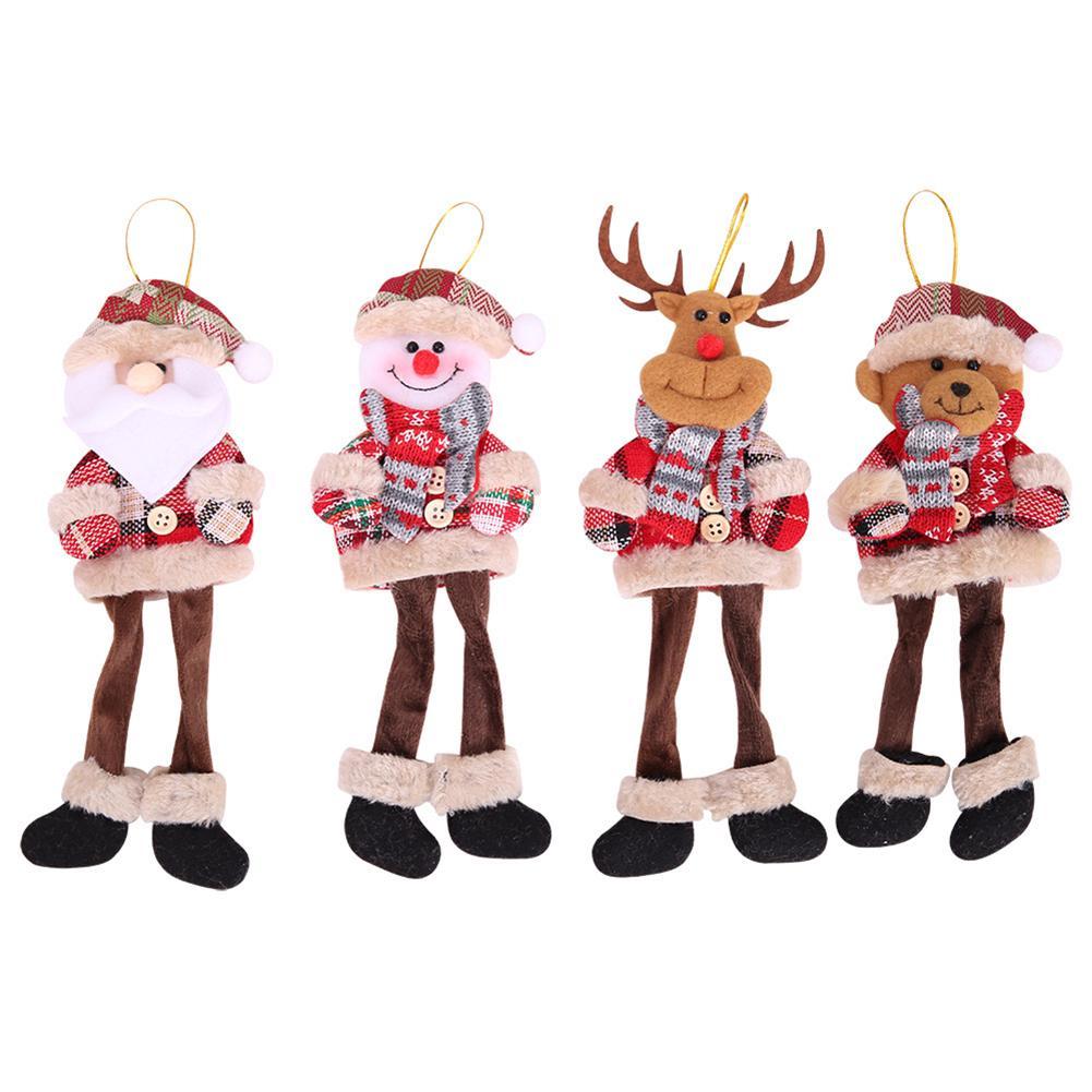 Christmas Santa Elk Snowman Bell Ornament Xmas Tree Show Window Party Home hot