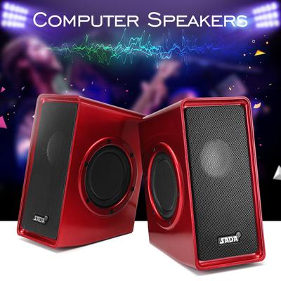 JT-2600 6W Mini USB 2.0 Speakers with 3.5mm Stereo Jack and USB Powered for PC