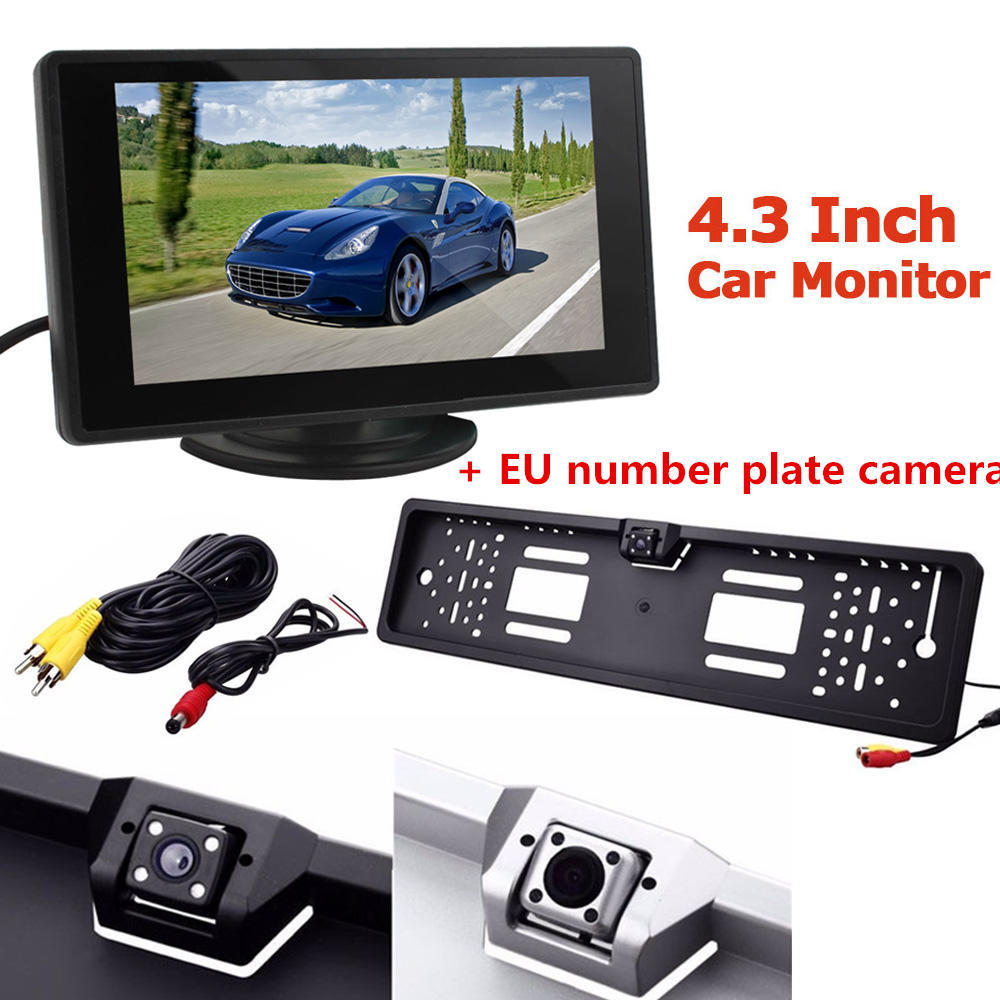 Car Rear View Camera Backup Parking with EU European License Plate ...