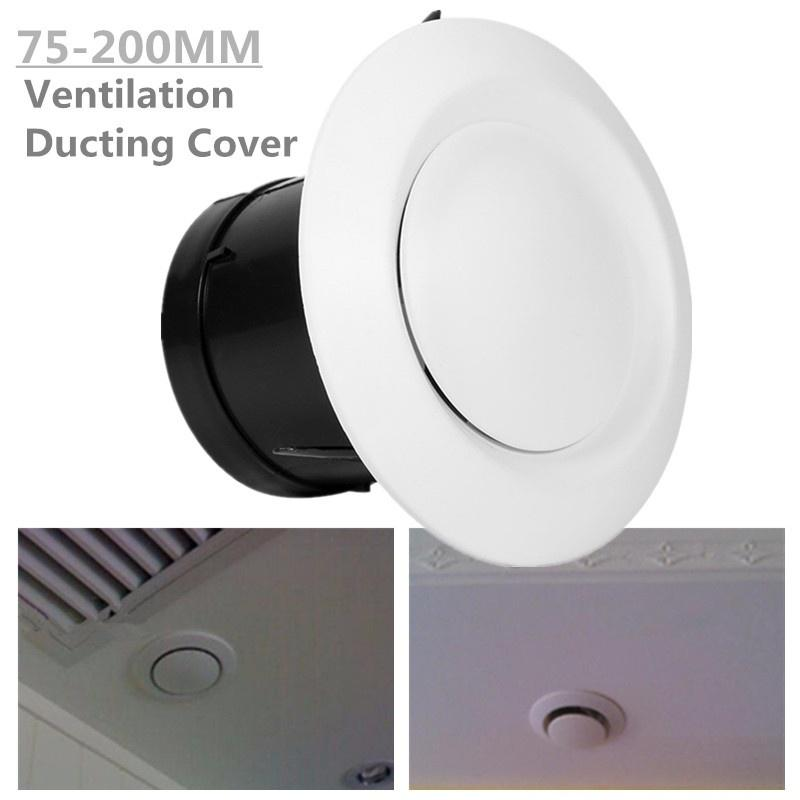 Ceiling Air Vent Grille Circle Ducting Ventilation Cover Diffuser Anemostat