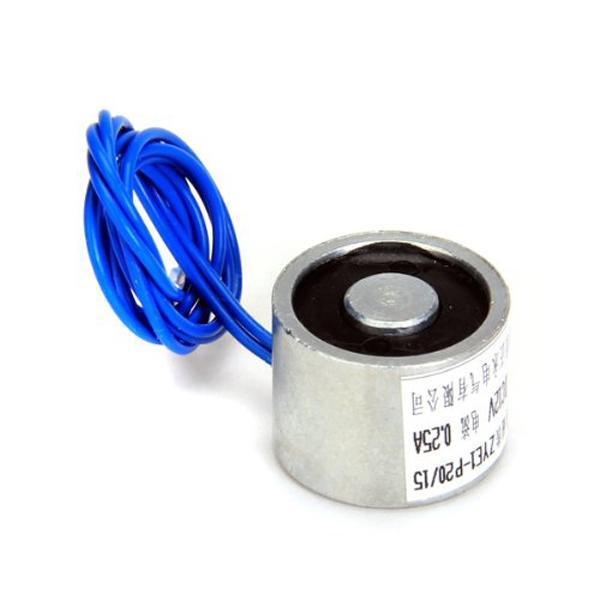 Electric Lifting Magnet Holding Electromagnet Lift Solenoid 20mm 5.5LB DC12V 25N