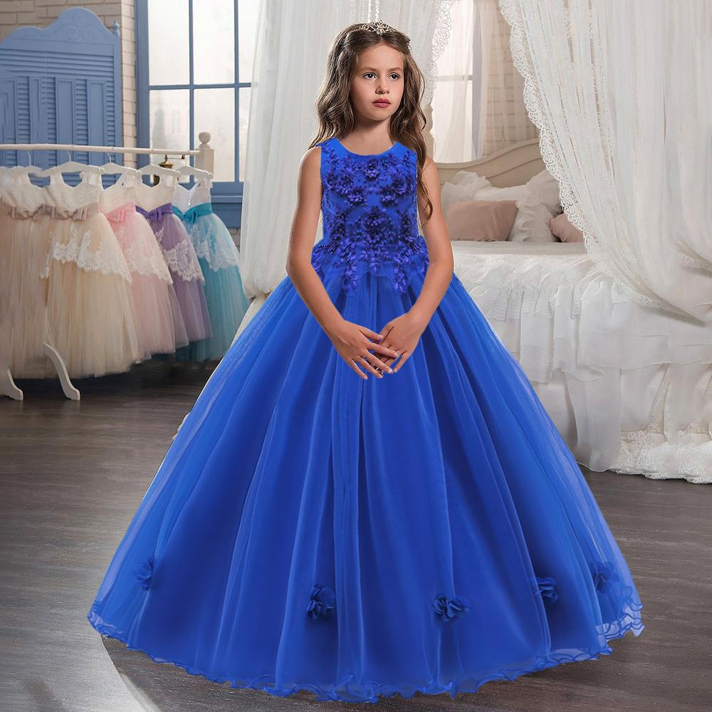 Buy Lace Beaded Applique Long Ball Gown Kids Dress Girl Party Elegant Teenager Formal Wedding Dresses At Affordable Prices Free Shipping Real Reviews With Photos Joom