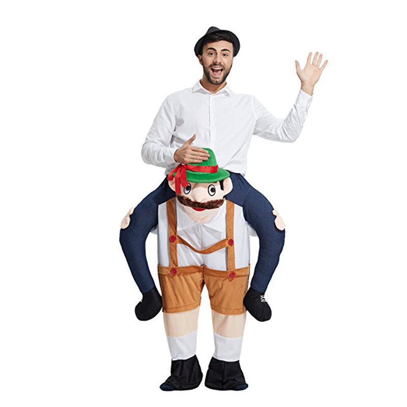 Adult Ride On Carry Fancy Dress Costume Stag Do Animal Oktoberfest Mens Ladies