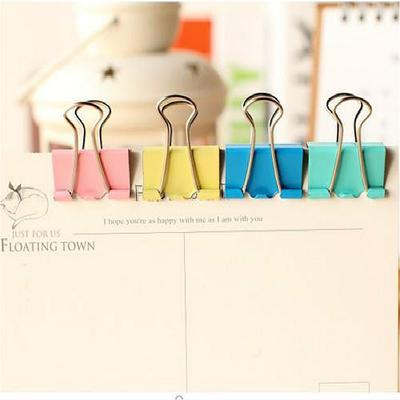 Colorful Metal Paper File Ticket Binder Clips 15mm Office School Supply Clip++