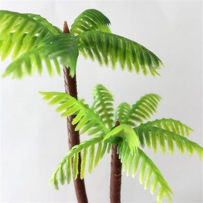 5Pcs// Set Plastic Coconut Palm Tree Plant Craft Micro Landscape Aquarium Decor