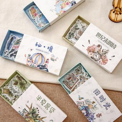 Self Adhesive Notebook Masking Diary Decor Scrapbook Tags Flower Stickers