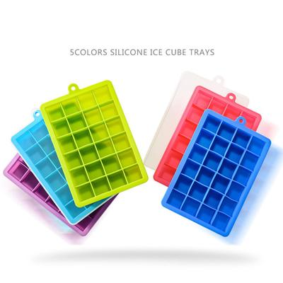 8 Big Grids Summer Froze Silicone Ice Cube Mold Tray Ice Maker Mold With Cover