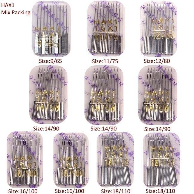 100 Pcs 9 11 14 16 18 Domestic Machine Needles 2020 HAX1 705H Singer Pack US
