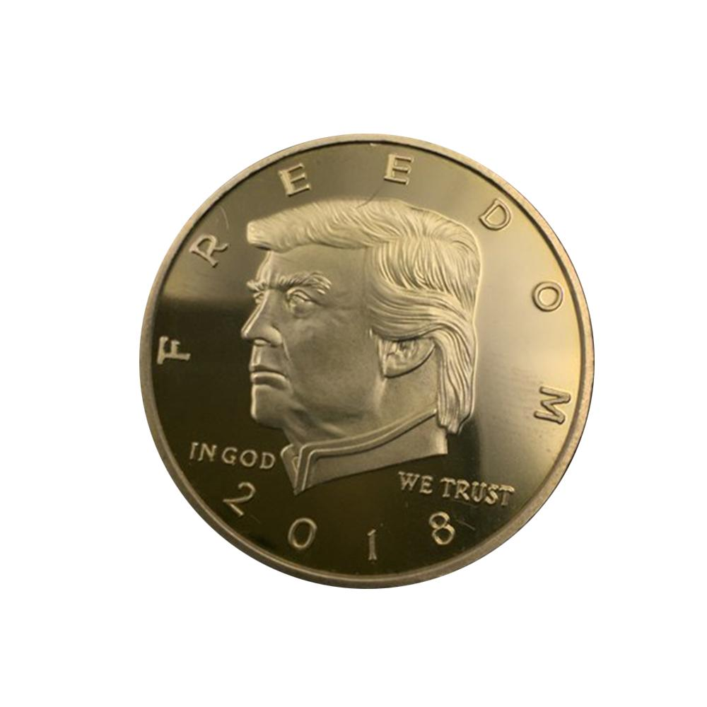 2018 President Donald Trump Gold Plated EAGLE Commemorative Coin