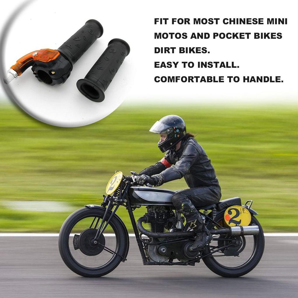 7//8 Handle Grip Throttle Clamp 49cc Pocket Bike Mini Moto Quads Twist Throttle Accelerator Grip 22mm