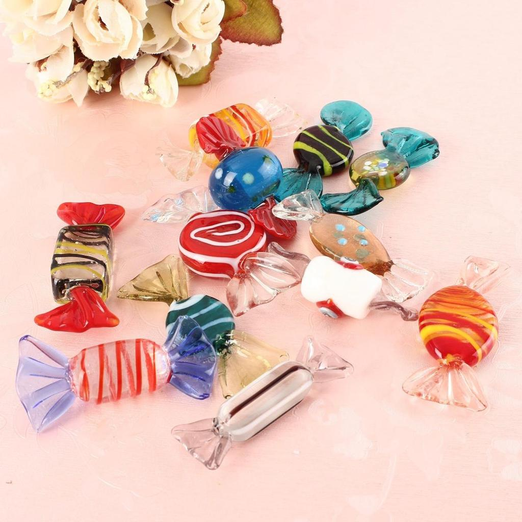 12pcs Vintage Murano Glass Sweets Wedding Candy Crafts Christmas ...