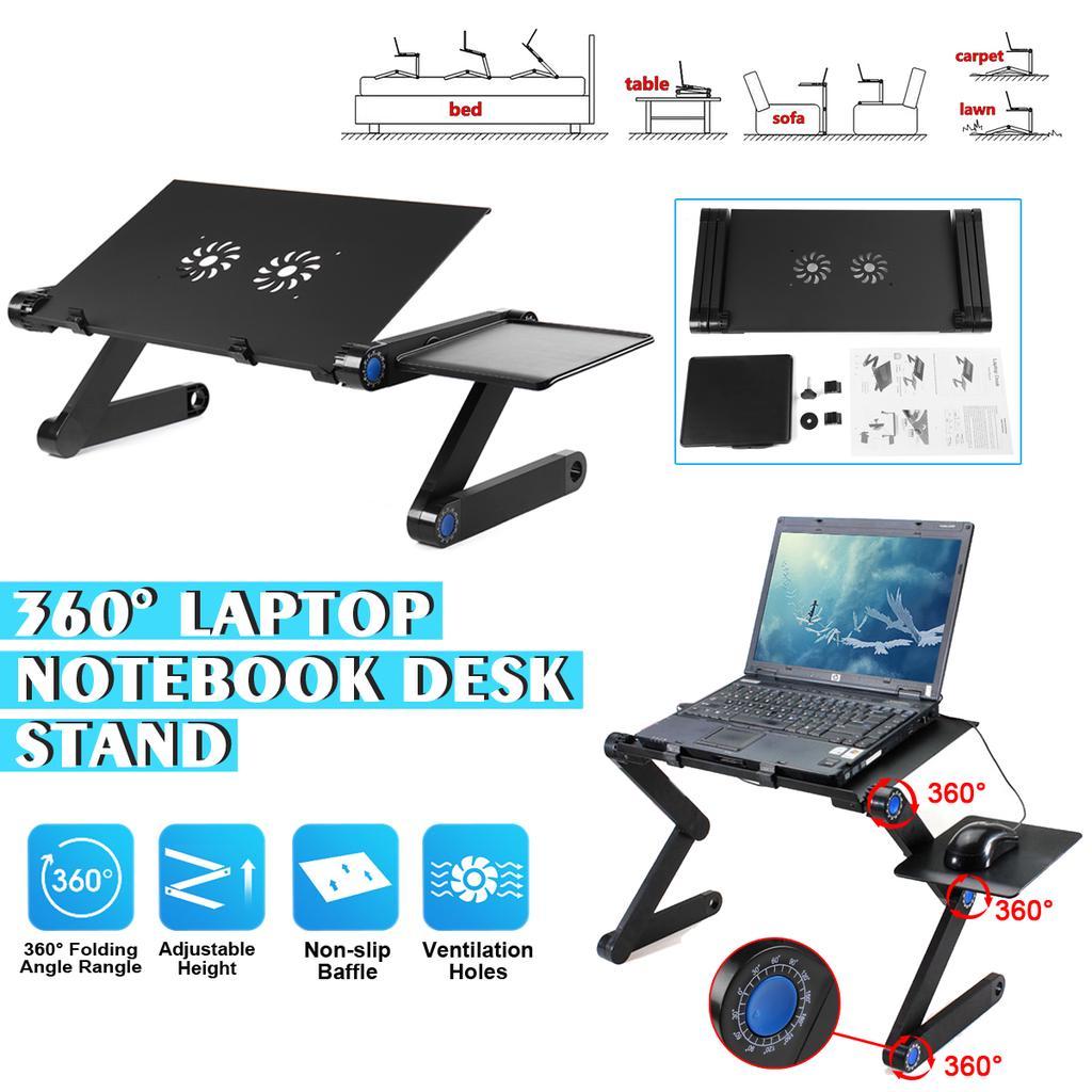 Computer Desk Foldable Folding Table, Portable Folding Computer Desk Laptop Notebook Reading Tablet