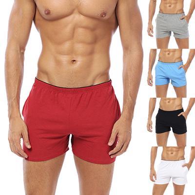 Mens Cotton Bulge Pouch Boxer Brief Slim Fit Homme Casual Pants Bulge Pouch