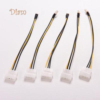 d699b2d4ee69e4398f00ef0928e663edd6564106_400_400 5 pcs 4 pin molex ide to 3 pin cpu case fan power connector cable