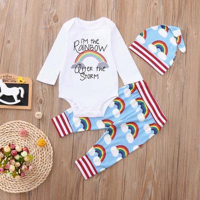Newborn Infant Baby Girl Boy Clothes Jumpsuit Romper Bodysuit Pants Outfits Set