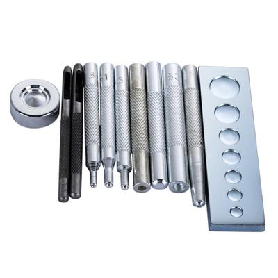 Steel Snap Button Fastener Die Punch Tools for Sewing 11-15mm 4pcs Silver