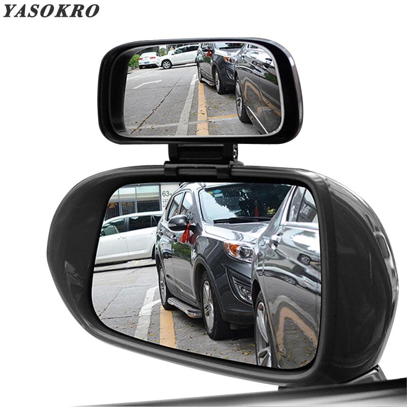 1 Pc 11x7cm Car Truck Unversal Adjustable Wide Angle Mirror Rear View Blind Spot