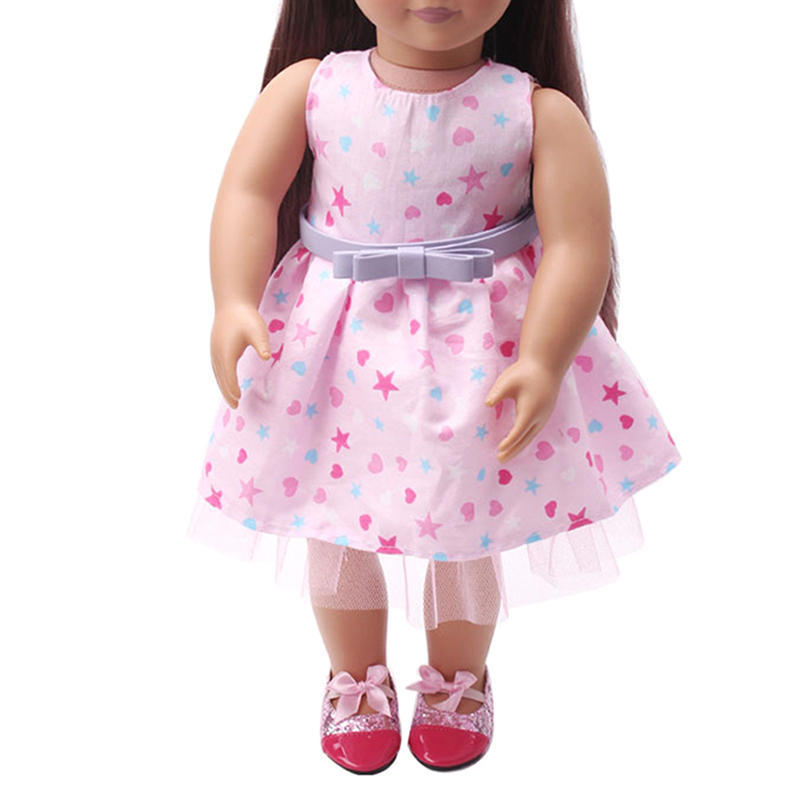 18-Zoll-American Girl Puppe Kleid American Girl Puppe Kleid + Gürtel ...