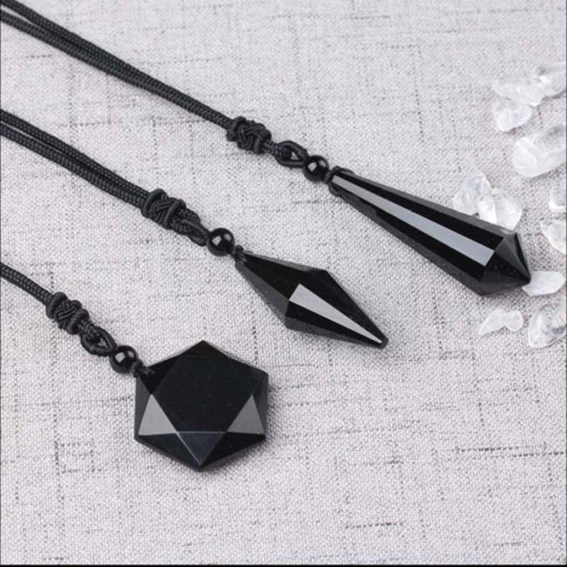 black obsidian necklace