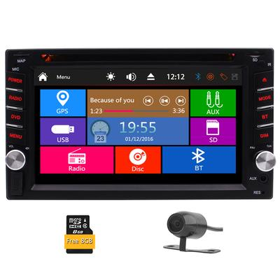 7018B 7 Inch LCD HD Double DIN Car In-Dash Touch Screen Bluetooth